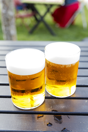Two pints of cold beer