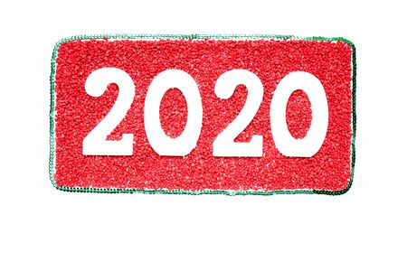 Happy New Year 2020. Symbol from number 2020 on white background