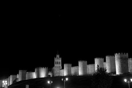 Medieval city walls of Avila Banco de Imagens