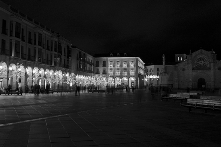 iluminated: Avila at night, christmas, Castile and Leon Spain