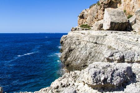 rocky cliff in Baleares, Spain
