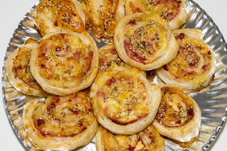 variety of mini pizzas Stock Photo