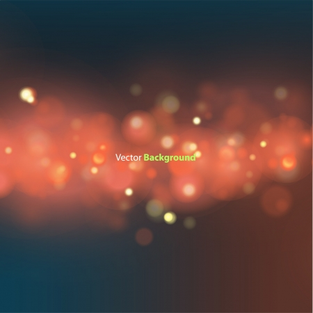 Beautiful lighting night unfocused in red  Vector illustration   Vector