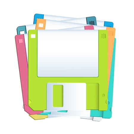 Diskettes on white background  Vector design Stock Vector - 16598775