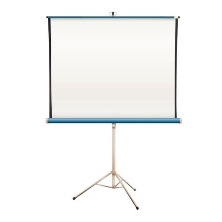 tripod projector: Empty projector screen  Isolated vector design