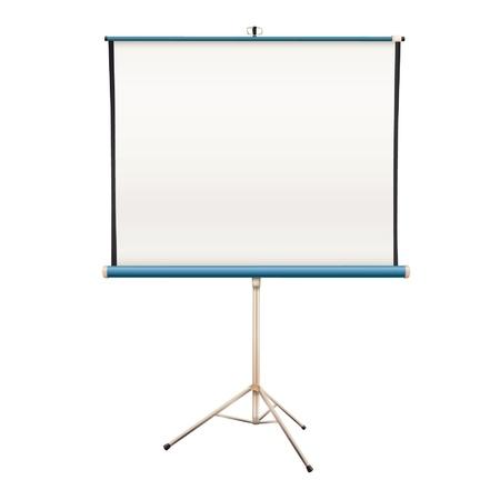 projector screen: Vuoto proiettore schermo isolato disegno vettoriale Vettoriali