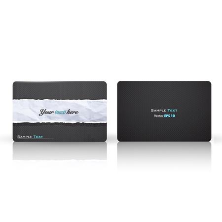 torn cardboard: Elegant texture printed on business card.