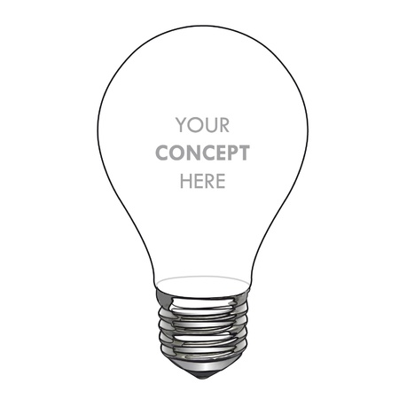 Simplicity bulb isolated on white. Stock Vector - 16851510