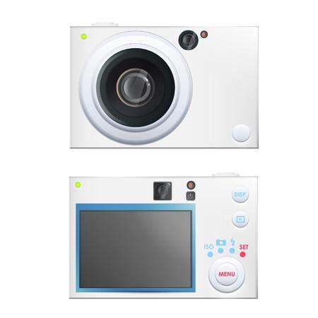 Digital camera design, front and back.