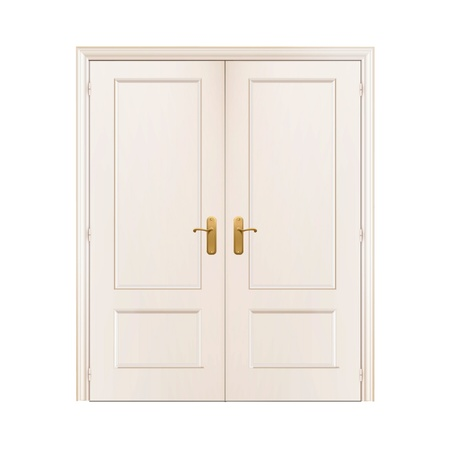 White door on isolated background.  Vector