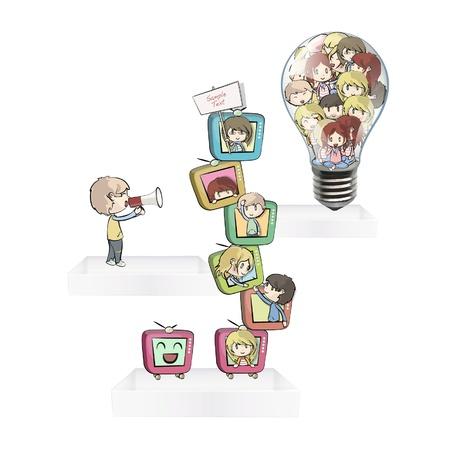 Children playing on shelves. Stock Vector - 16867505