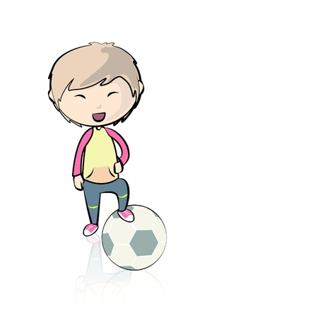 Child playing with a soccer ball. Stock Vector - 16867217