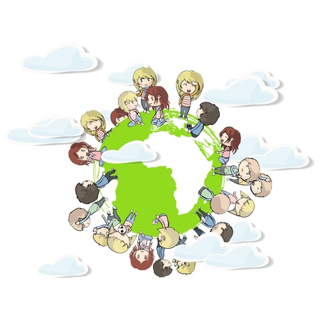 children around the world. Stock Vector - 16867603