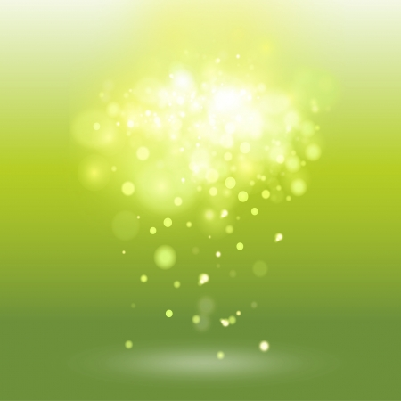 Green background with unfocused brightness. Vector design.  Illustration