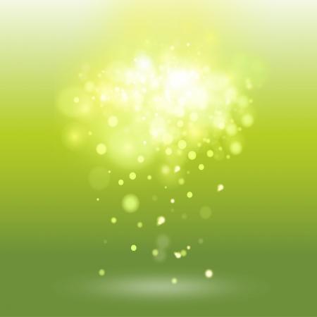brightness: Green background with unfocused brightness. Vector design.  Illustration