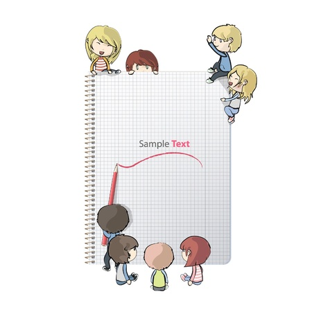 Notebook with several children design.