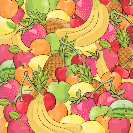 Texture of fruits design Vector