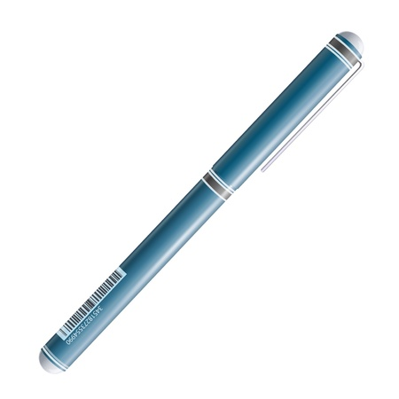 Realistic blue pen illustration. Stock Vector - 17039591