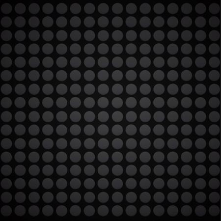 Black dots in black background. Stock Vector - 17042434