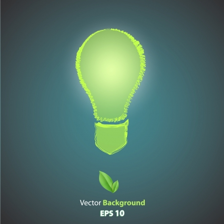 Ecologic icon of bulb  Vector