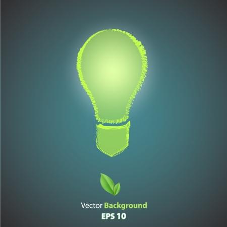 ecologic: Ecologic icono de bombilla