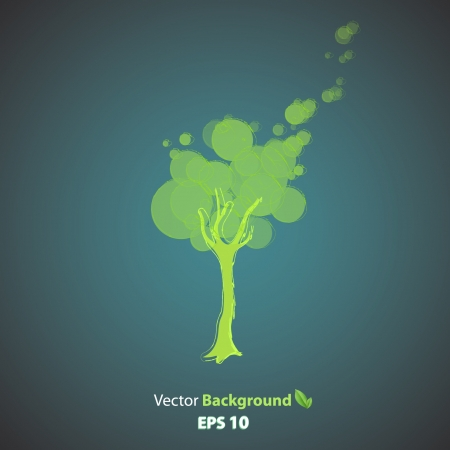 Ecologic icon of tree. Stock Vector - 17042497