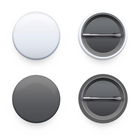 blank button: Set of badges on white background