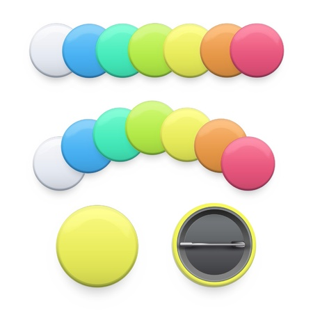 Set of empty colorful badges.   Vector