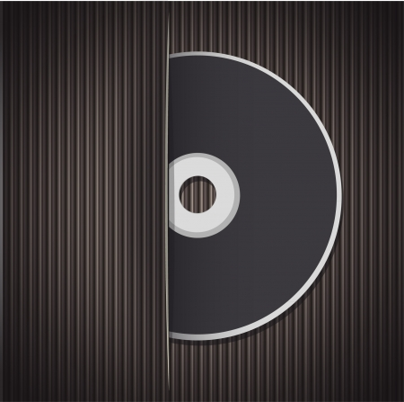 recordable: Blank cd isolated on white background  Vector design