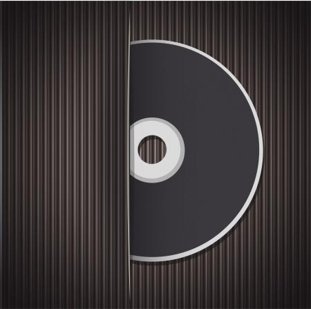 cd case: Cd en blanco aislado en fondo blanco del dise�o vectorial