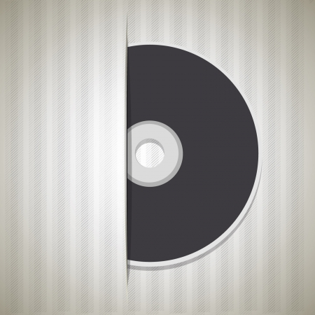 Blank cd isolated on white background  Vector design   Vector