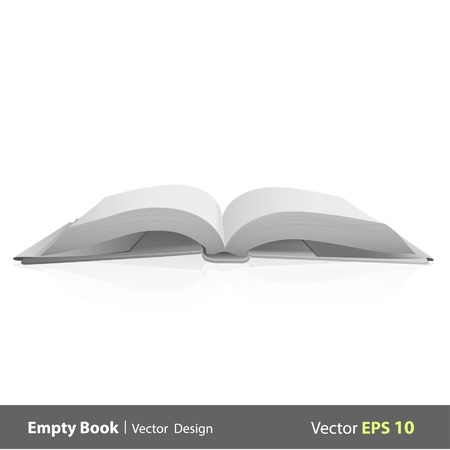 writing book: Blank book isolated on white background design   Illustration