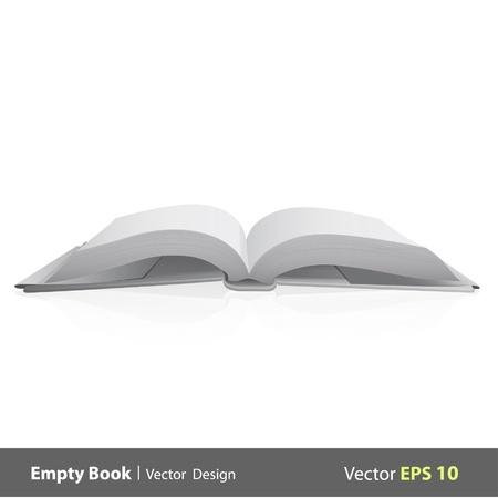 open magazine: Blank book isolated on white background design   Illustration