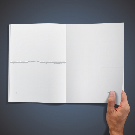 chapter: blank empty book on blue background design