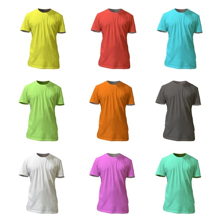 Collection of colorful shirt design illustration