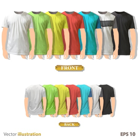 Colorful collection of shirt design  Vector illustration   Vector