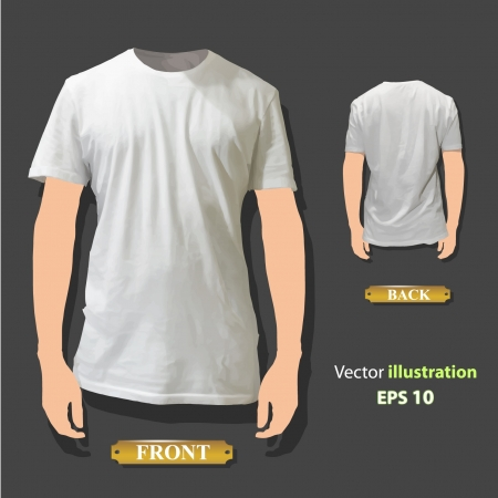 Empty white shirt design  Realistic illustration