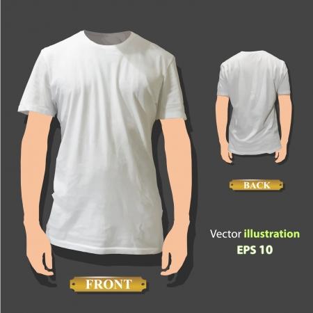 Empty white shirt design  Realistic illustration Stock Vector - 17150331
