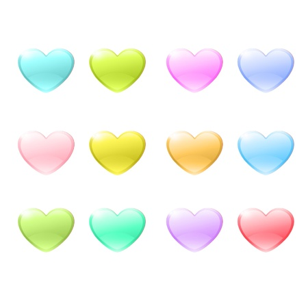 pretty s shiny: Icon of colorful hearts design