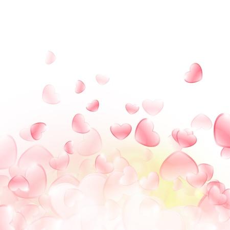 Beautiful background of hearts  Vector design Stock Vector - 17265342