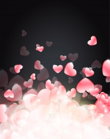 Beautiful background of hearts  Vector illustration   Stock Vector - 17265341