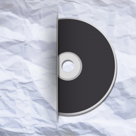 Cd on paper background  Vector design   Vector
