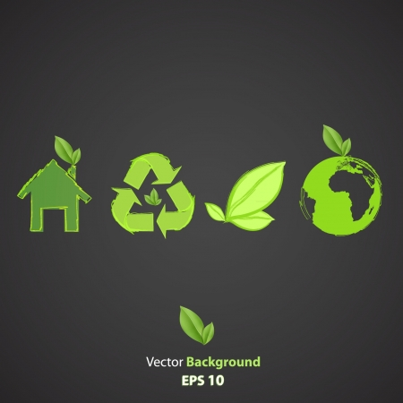 Collection of ecological icons  Vector design