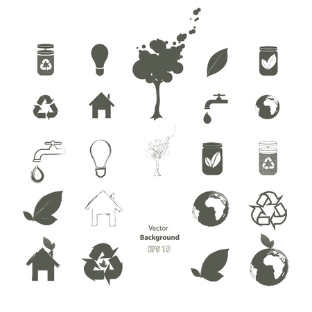 Collection of ecological icons  Vector design   Vector