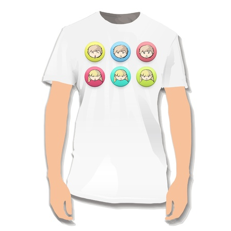 Face of kids printed on white shirt  Vector design   Stock Vector - 17265403