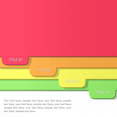 dossier: Green folder with colorful papers  Vector design
