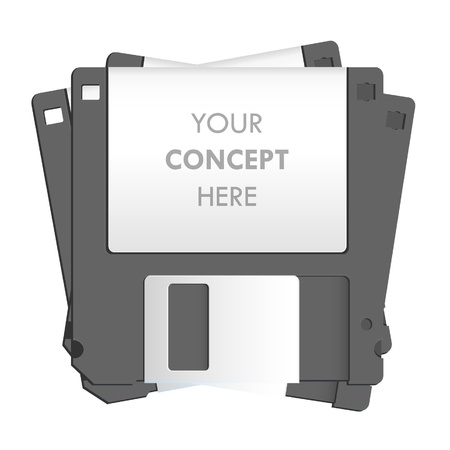 Black diskette on white background  Vector design   Stock Vector - 17265348