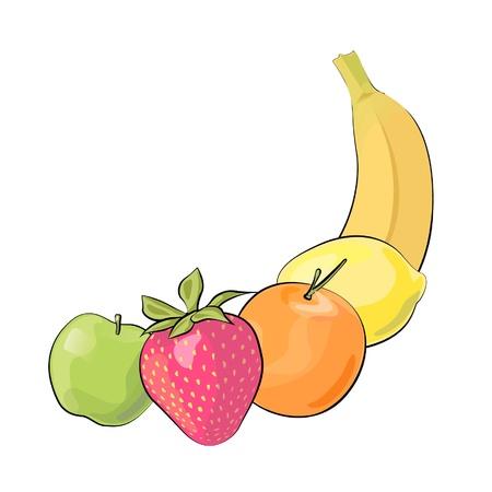 Fruit collection  Vector Design   Stock Vector - 17265346