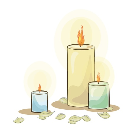 multiple birth: Isolated colorful candle  Vector illustration
