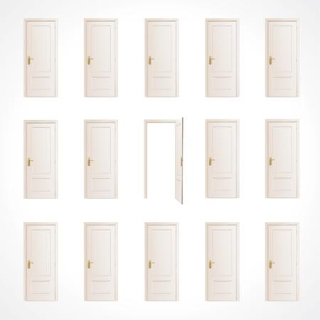 doorframe: Lote de puertas blancas y un dise�o vectorial libre
